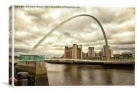 The Millenium Bridge - Newcastle, Canvas Print