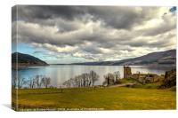 Catle Urquhart and Loch Ness, Canvas Print