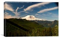 Mt Rainier , Canvas Print