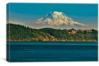 Mt Rainier In Washington, Canvas Print