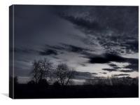 Moody Sky, Canvas Print