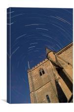 Dorchester Abbey Star Trail, Canvas Print