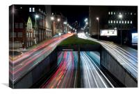Queensway Tunnel at Night, Canvas Print