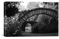 Arches in Grosvenor Park, Chester, Canvas Print