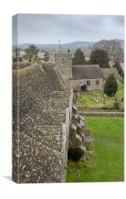 Stokesay Castle and St John the Baptist's Chruch, , Canvas Print