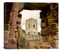 Through the Window at Fountains Abbey, Canvas Print