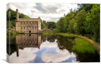 Gibson Mill at Hadcastle Crags, Canvas Print