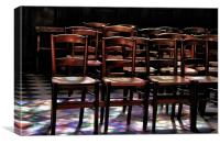 Rainbow chairs, Canvas Print