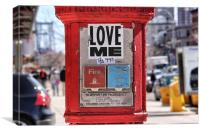 Love me, Canvas Print