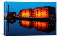 Albert Dock in blue hour, Canvas Print