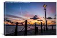Liverpool waterfront at dusk, Canvas Print