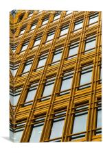 Yellow office block in London, Canvas Print