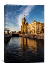 Liverpool waterfront in the golden hour, Canvas Print