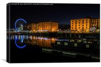 Salthouse Dock at night, Canvas Print