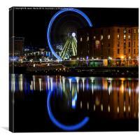 Liverpool wheel (square crop), Canvas Print