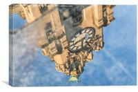 Reflection of the Liver Building, Canvas Print