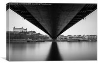 Under the UFO Bridge, Canvas Print