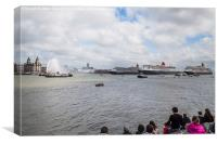 Crowds watching the Three Queens, Canvas Print