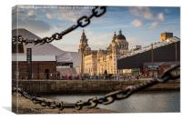 Pier Head in the golden hour, Canvas Print