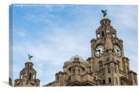 Top of the Royal Liver Building, Canvas Print
