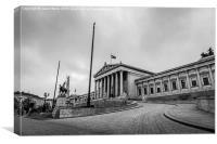 Austrian Parliament Building in Vienna captured in, Canvas Print
