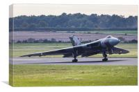 The Vulcan rolls down the runway, Canvas Print
