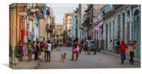 Centro Havana panorama, Canvas Print