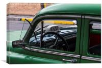 Inside an old timer, Canvas Print