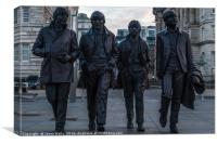 Fab Four statue, Canvas Print