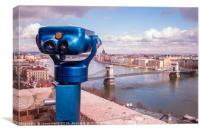 Budapest lookout point, Canvas Print