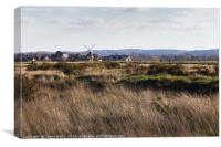 Cley windmill landscape, Canvas Print