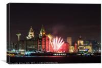 Fireworks at Pier Head, Canvas Print