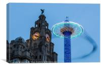 Spinning with the Liver Birds, Canvas Print