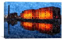Albert Dock at twilight, Canvas Print