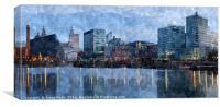 Canning dock panorama, Canvas Print
