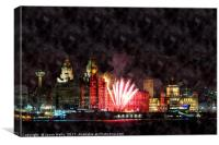 Fireworks at Pier Head, Canvas Print
