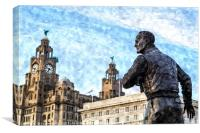 Captain Walker looking out over the Mersey, Canvas Print