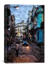 Headlights in Havana, Canvas Print