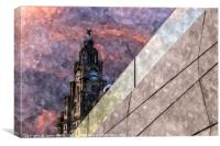 Liver Building at dusk, Canvas Print