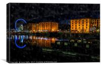 Overlooking the Salthouse Dock at night, Canvas Print
