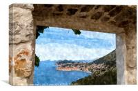 Framing Stari Grad in Dubrovnik, Canvas Print