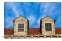 Looking upward at the Dubrovnik architecture, Canvas Print