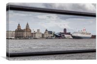 MV Boudicca leaves Liverpool, Canvas Print