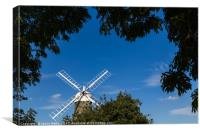 Framing Great Bircham windmill, Canvas Print