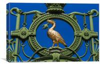 Golden Liverbird on the Liverpool Sailors' home ga, Canvas Print