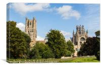 South facing facade of Ely Cathedral, Canvas Print