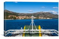 Approaching Orebic on the Croatian mainland, Canvas Print