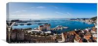Panoramic views facing South of Split, Canvas Print