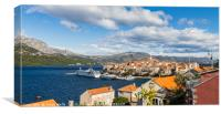 Colours of Korcula old town, Canvas Print