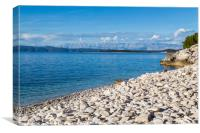 Overlooking the pebbles of Vaja Bay, Canvas Print
